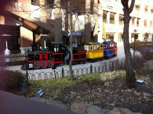 There's even kiddy train ride!