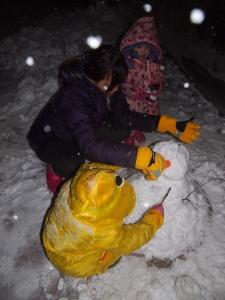Making snow man